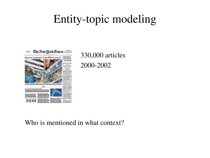 Entity-topic modeling