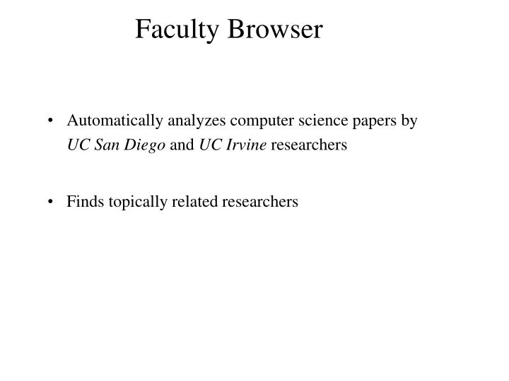 Faculty Browser