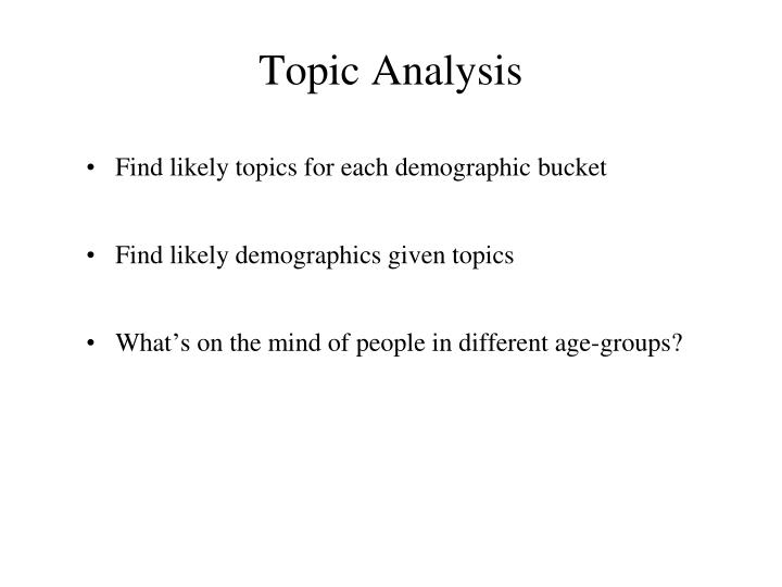 Topic Analysis