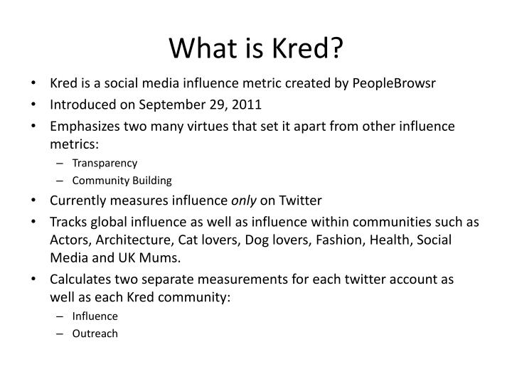 What is kred1
