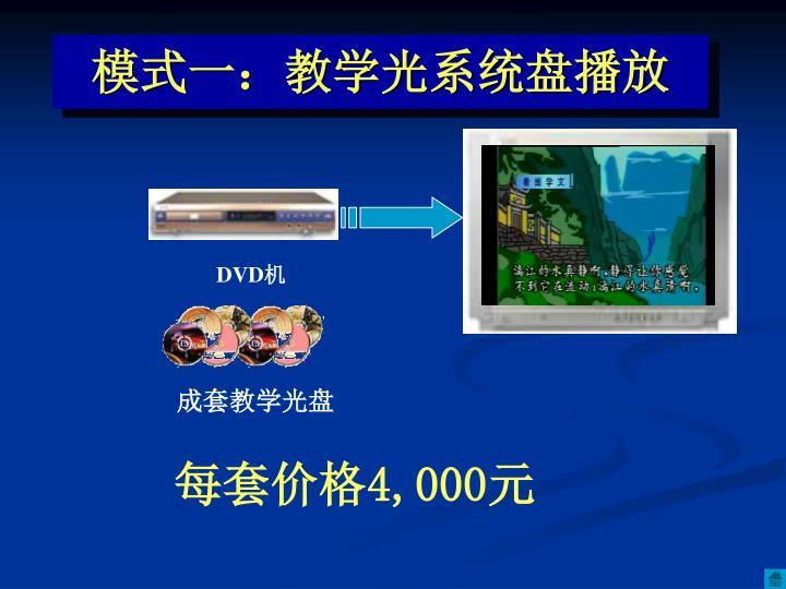 模式一:教学光系统盘播放