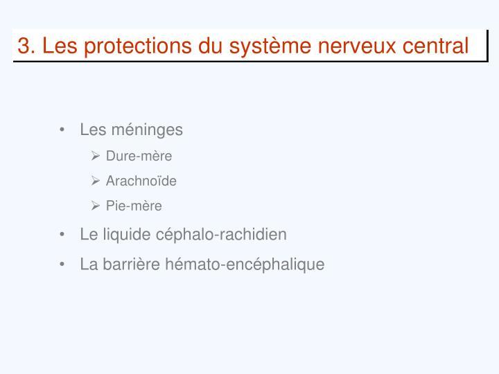 3. Les protections du système nerveux central