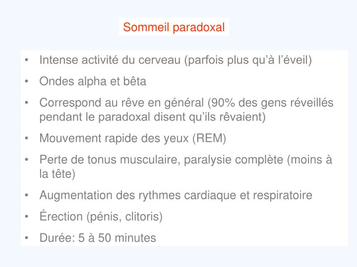 Sommeil paradoxal
