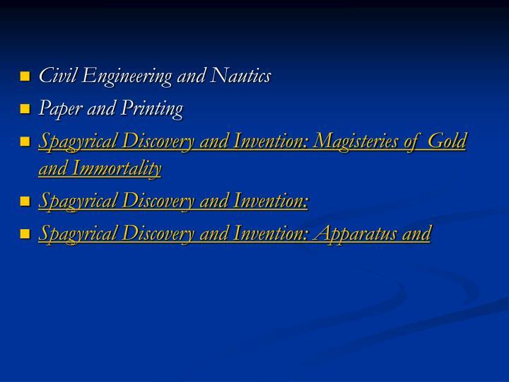 Civil Engineering and Nautics