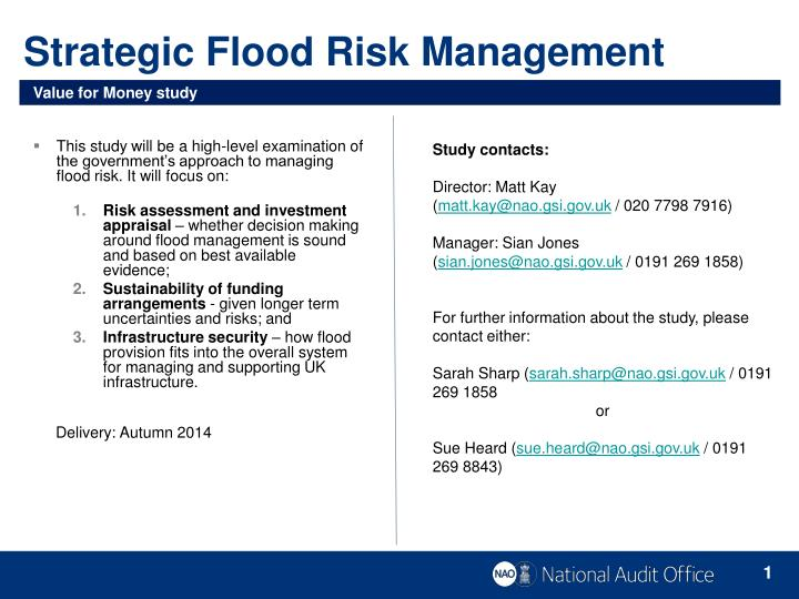 Strategic flood risk management