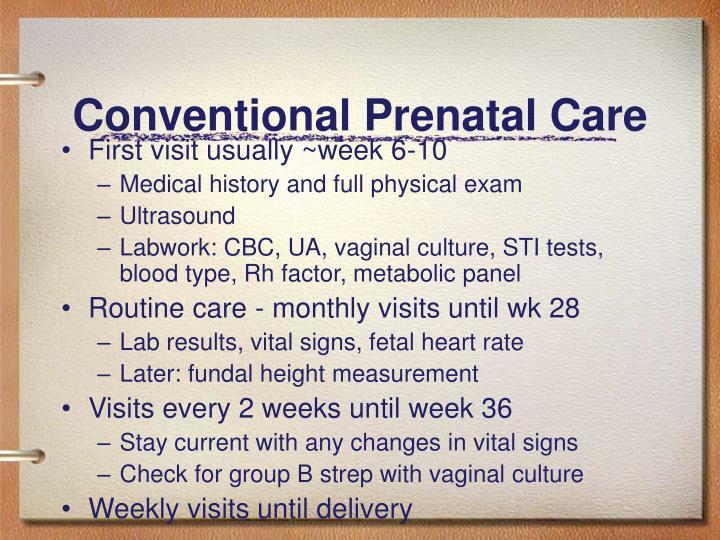 Conventional Prenatal Care