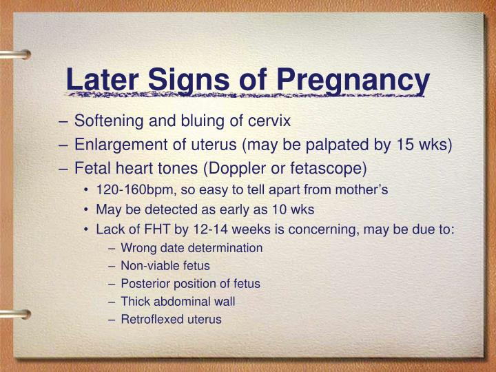 Later Signs of Pregnancy