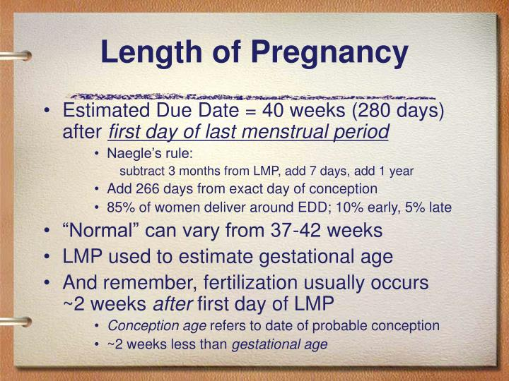 Length of Pregnancy