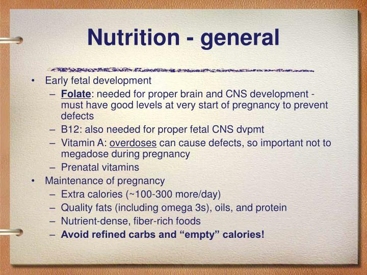 Nutrition - general
