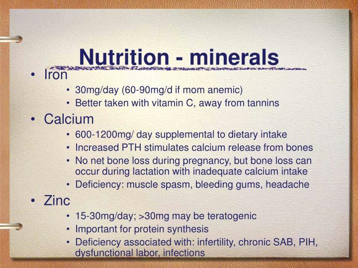 Nutrition - minerals