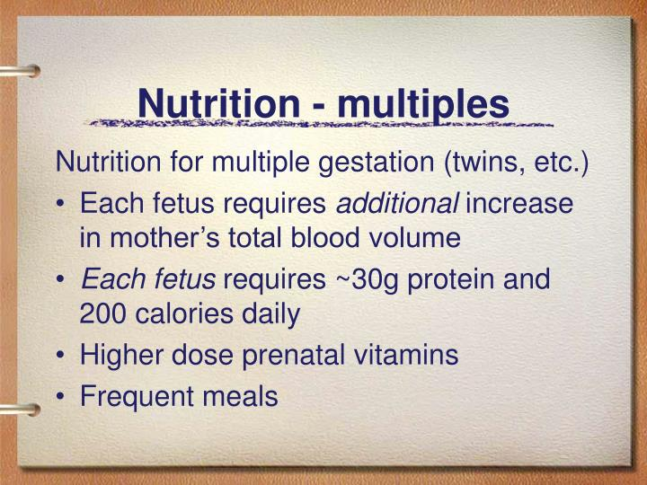 Nutrition - multiples