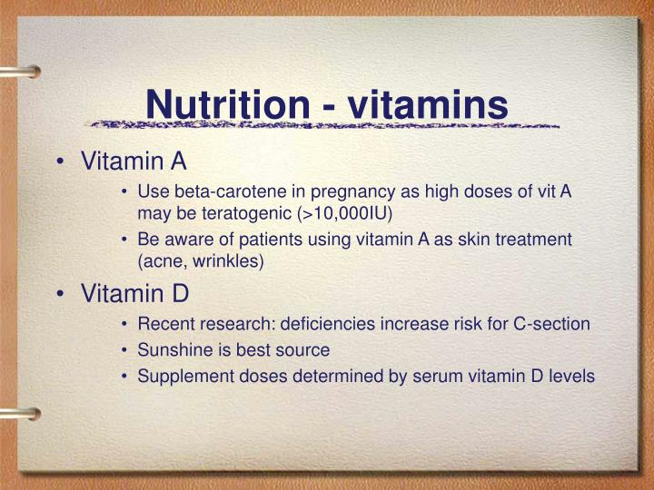 Nutrition - vitamins