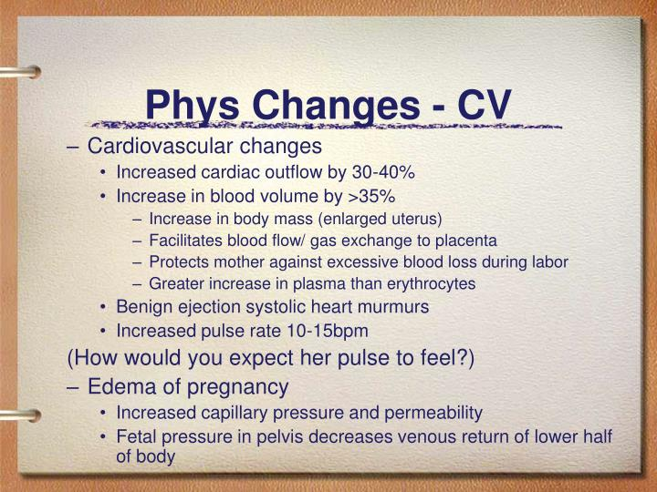 Phys Changes - CV