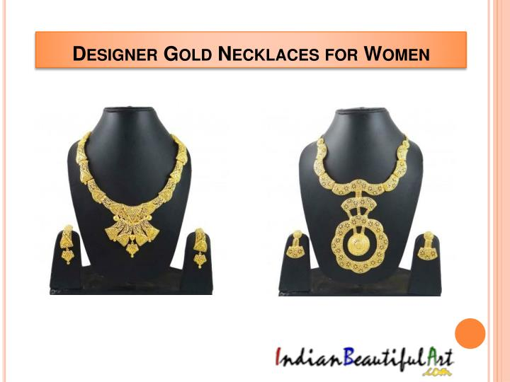 Designer Gold Necklaces for Women