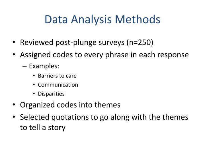 Data Analysis Methods