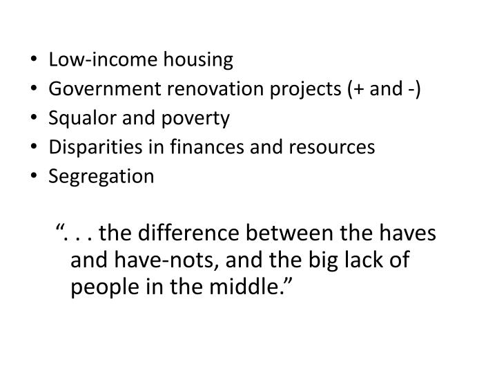 Low-income housing