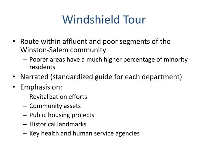 Windshield Tour