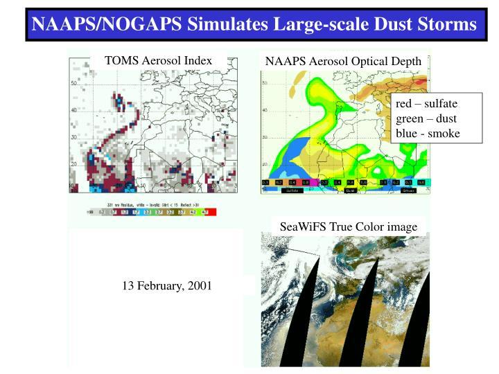 NAAPS/NOGAPS Simulates Large-scale Dust Storms