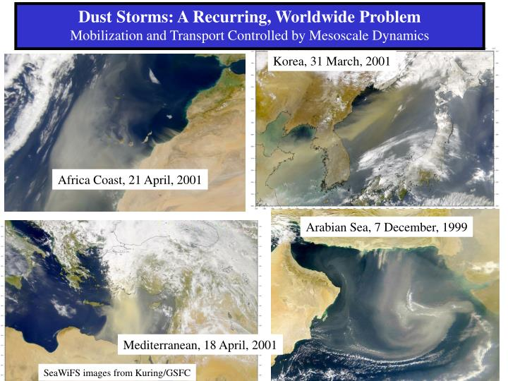 Dust Storms: A Recurring, Worldwide Problem