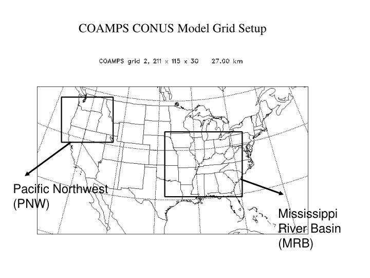 COAMPS CONUS Model Grid Setup