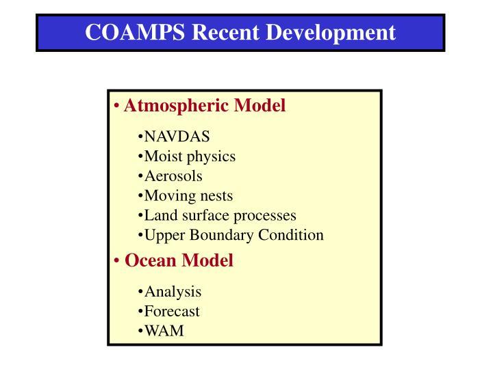 COAMPS Recent Development