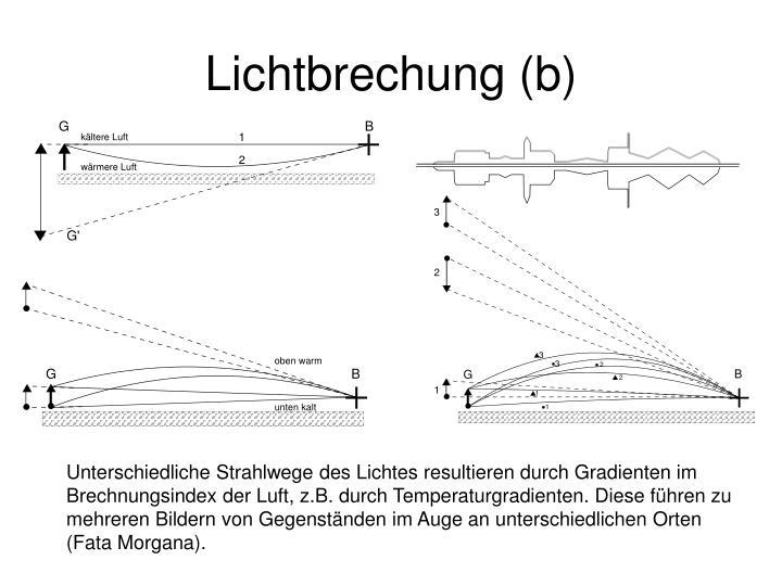 Lichtbrechung (b)