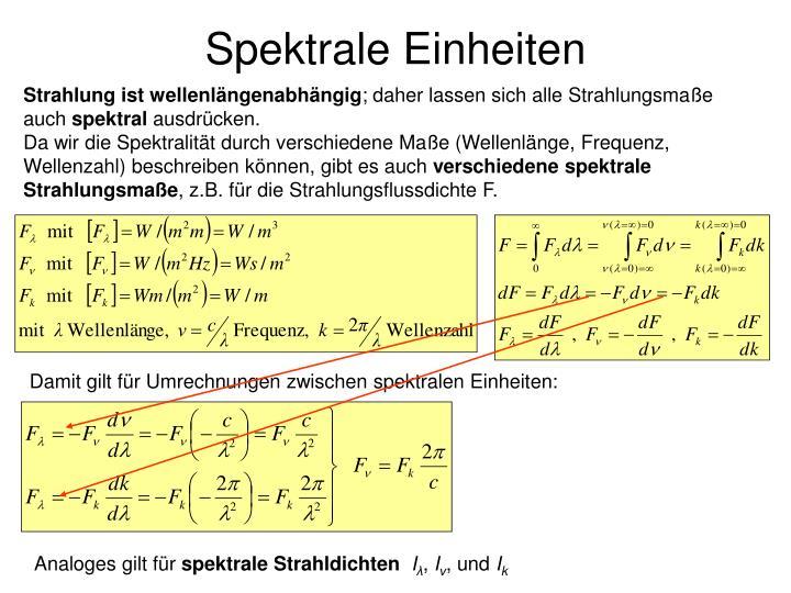 Spektrale Einheiten