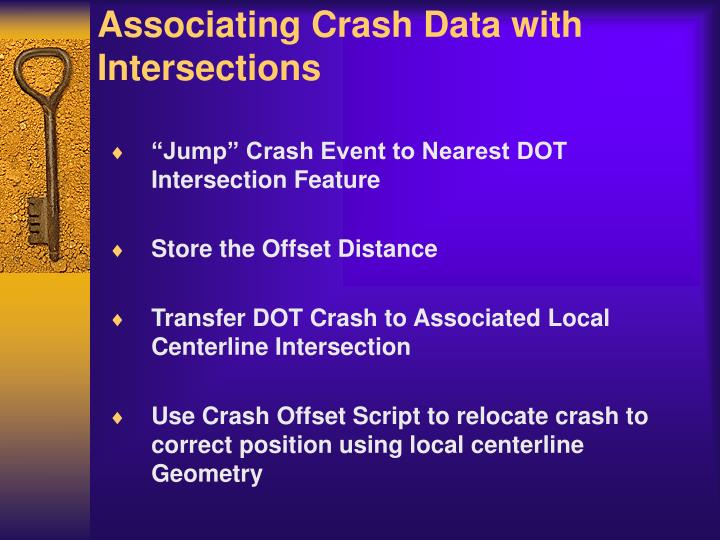 Associating Crash Data with Intersections