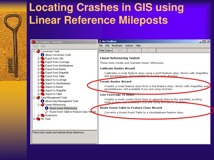 Locating Crashes in GIS using Linear Reference Mileposts