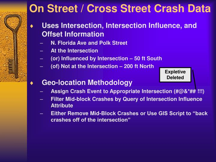 On Street / Cross Street Crash Data