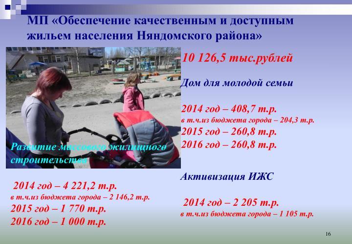 МП «Обеспечение качественным и доступным жильем населения Няндомского района»