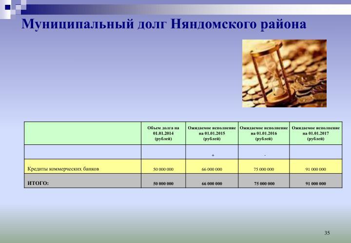 Муниципальный долг Няндомского района