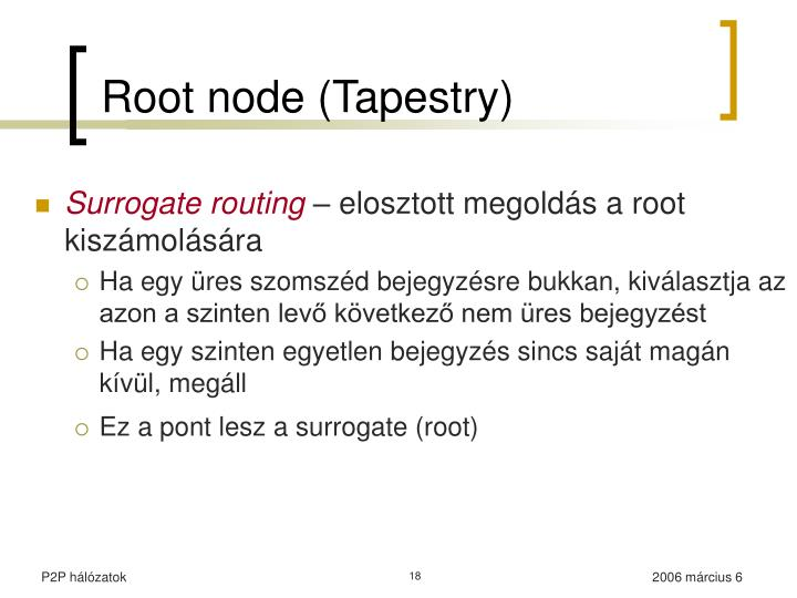Root node (Tapestry)