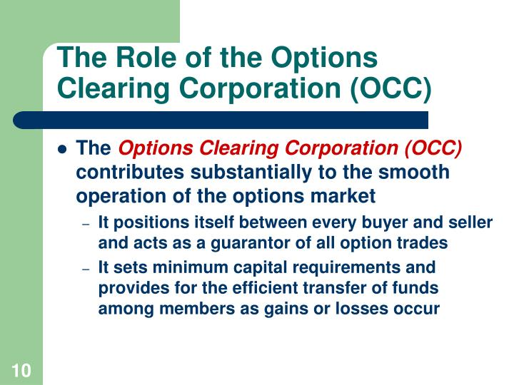 The Role of the Options Clearing Corporation (OCC)