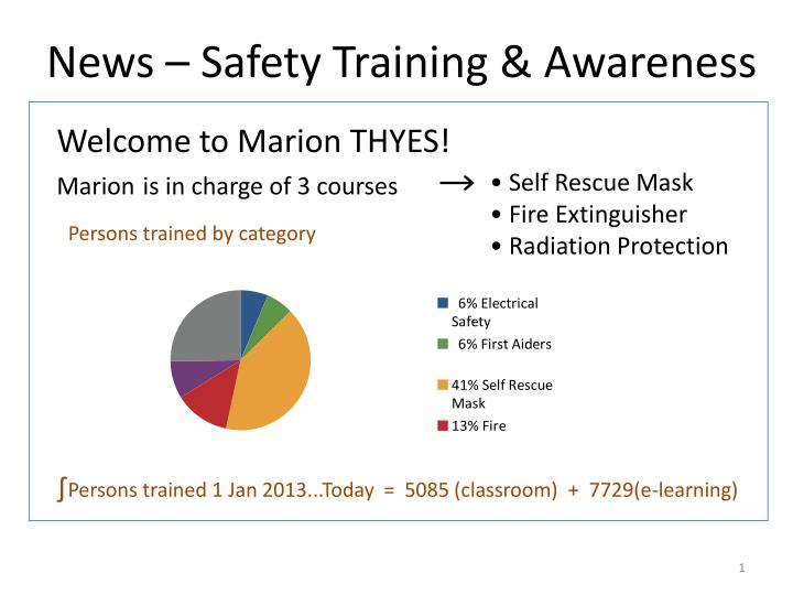 News safety training awareness