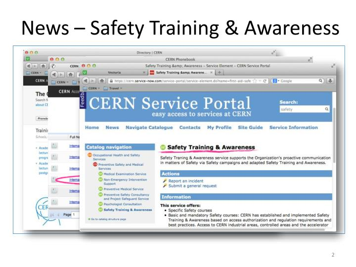 News safety training awareness1