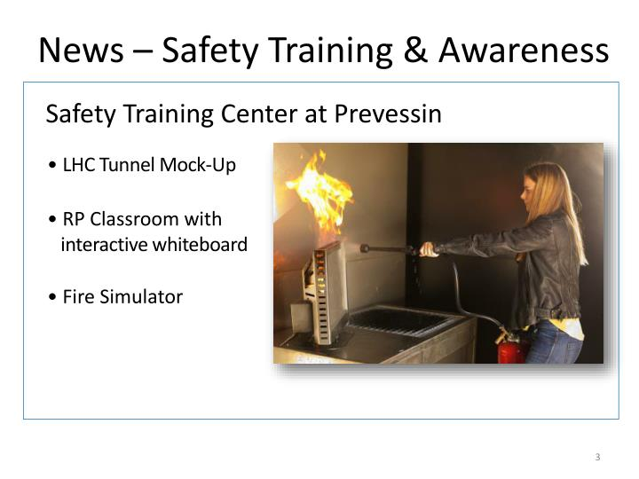 News safety training awareness2