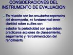 consideraciones del instrumento de evaluacion1
