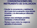 consideraciones del instrumento de evaluacion2