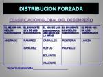 distribucion forzada