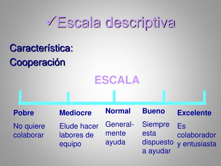 Escala descriptiva