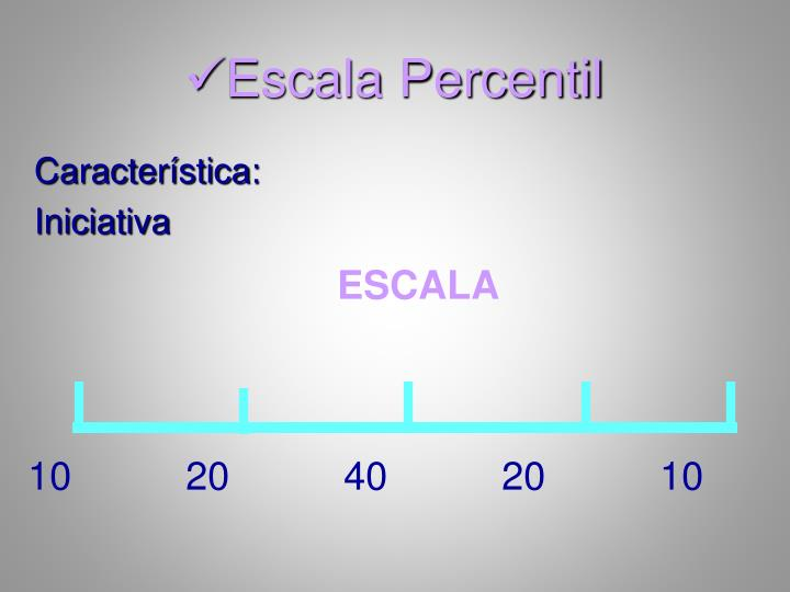 Escala Percentil