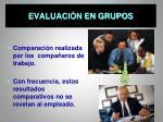 evaluaci n en grupos
