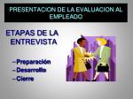 presentacion de la evaluacion al empleado