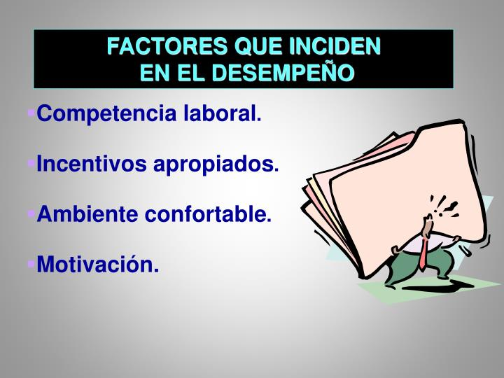 FACTORES QUE INCIDEN