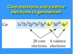 core electrons and valence electrons in germanium