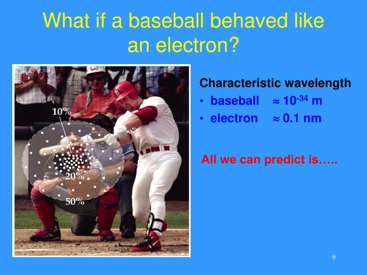 What if a baseball behaved like an electron?