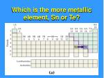 which is the more metallic element sn or te
