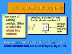 writing orbital notations