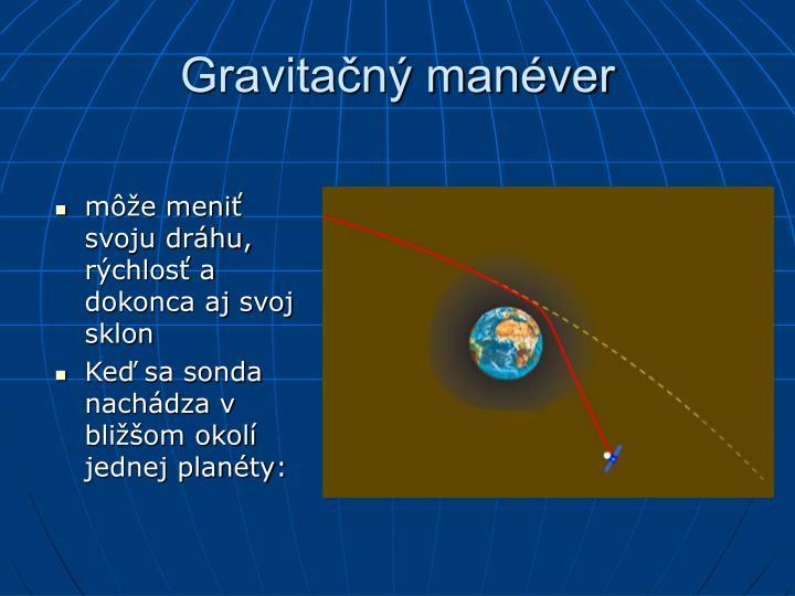 Gravitačný manéver